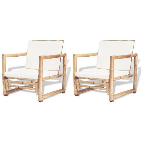 Zestaw bambusowych krzeseł ogrodowych Mollie