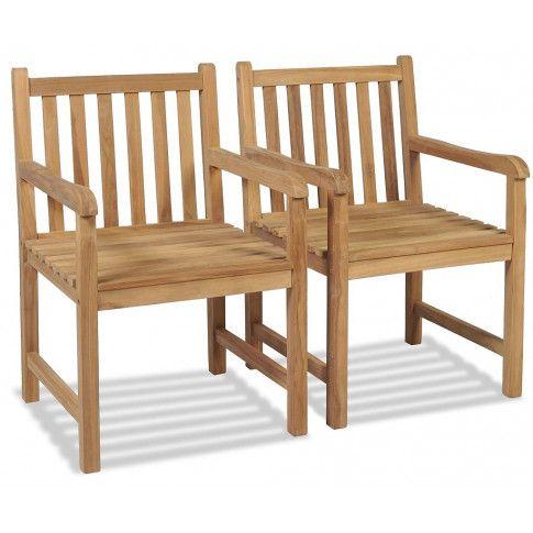 zestaw drewnianych krzeseł ogrodowych trina