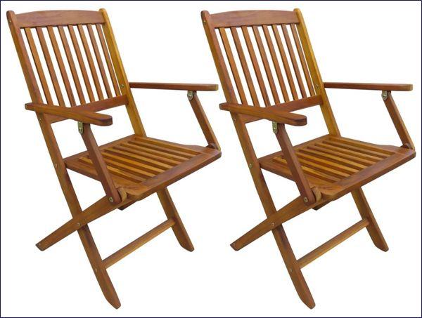Drewniane krzesła ogrodowe składane Tony