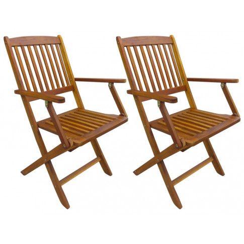 Zdjęcie produktu Drewniane krzesła ogrodowe Tony 2 szt.