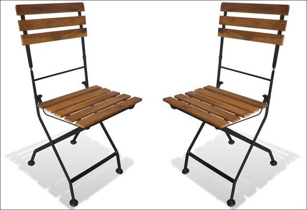 Składane krzesła na taras z drewna akacji Dixter