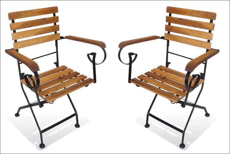 Zestaw krzeseł tarasowych z drewna akacji Dixter 2X