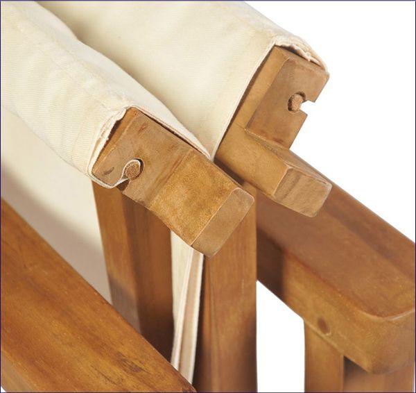Ogrodowe krzesło drewniane reżyserskie Bonet