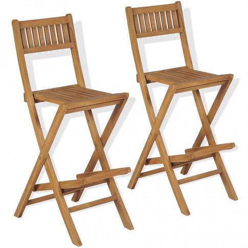 Zestaw drewnianych krzeseł ogrodowych Connie