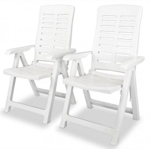 zestaw białych krzeseł ogrodowych Elexio 2Q