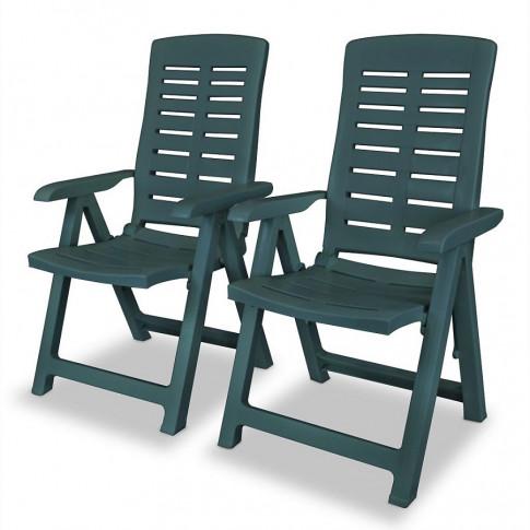 Zestaw zielonych krzeseł ogrodowych Elexio 2Q