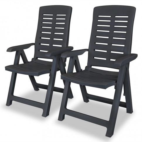 Zestaw szarych krzeseł ogrodowych Elexio 2Q
