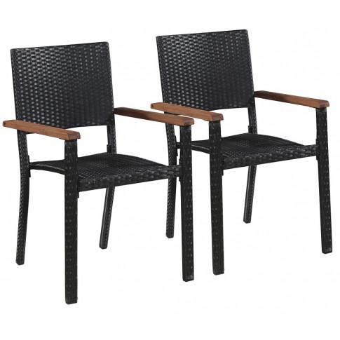 Zestaw polirattanowych krzeseł ogrodowych Conat