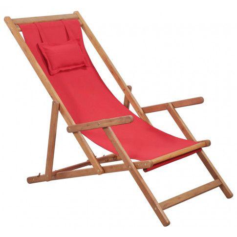 Zdjęcie produktu Czerwony składany leżak plażowy - Inglis.