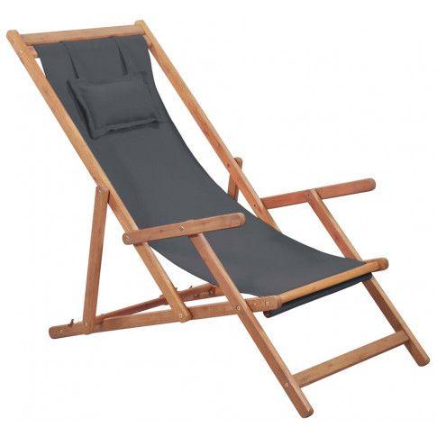 Zdjęcie produktu Szary leżak z drewna eukaliptusa - Inglis.