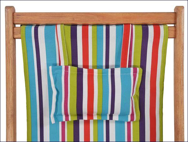 Kolorowy składany leżak z drewna litego Inglis