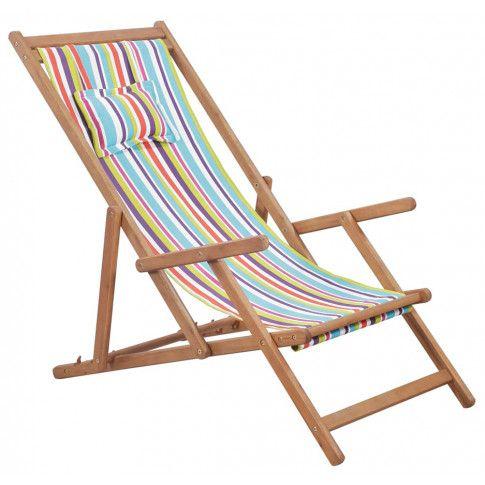 Zdjęcie produktu Wielokolorowy składany leżak plażowy - Inglis.