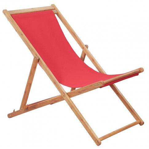 Zdjęcie produktu Czerwony leżak plażowy - Inglis 2X.