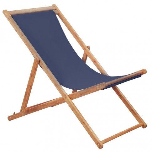 Zdjęcie produktu Granatowy leżak drewniany - Inglis 2X.