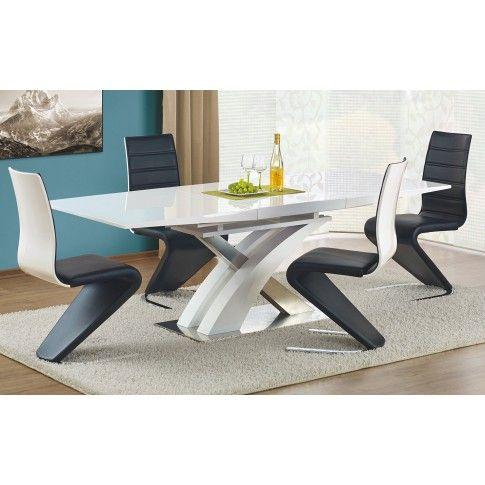 Zdjęcie produktu Rozkładany stół Zander - biały połysk.