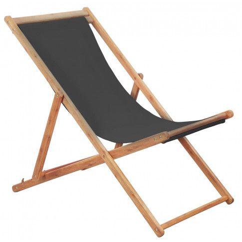 Zdjęcie produktu Szary składany leżak na plażę - Inglis 2X.