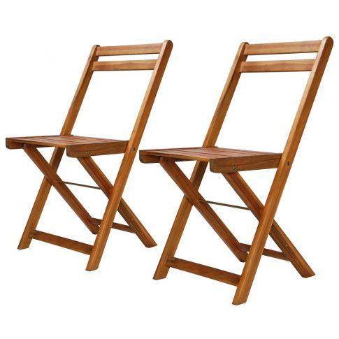 Zdjęcie produktu Zestaw drewnianych krzeseł ogrodowych Emert - brązowy.