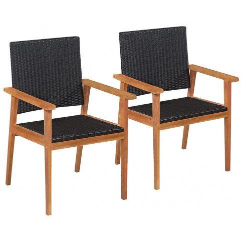 Zdjęcie produktu Zestaw krzeseł ogrodowych Regia - czarno-brązowy.