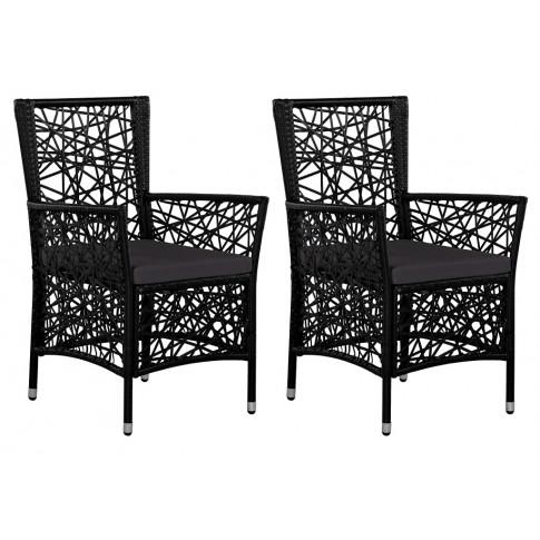 Zestaw nowoczesnych krzeseł ogrodowych Robin