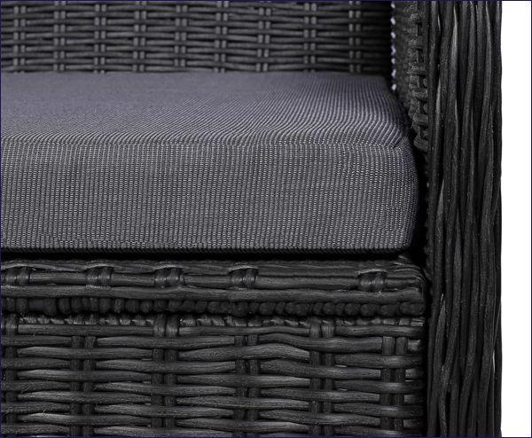 Fotele ogrodowe wyplatane z siedziskiem Grafton