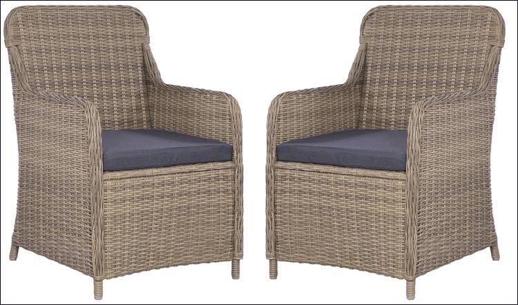 Rattanowe fotele tarasowe Grafton