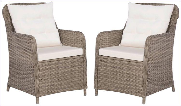 Zestaw foteli ogrodowych z rattanu syntetycznego Grafton
