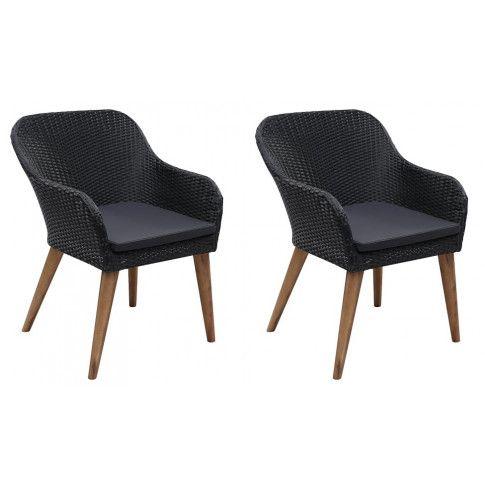 Zdjęcie produktu Zestaw krzeseł ogrodowych Fring - czarny.