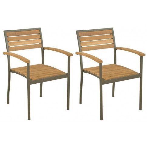 zestaw sztaplowanych krzeseł ogrodowych ridley