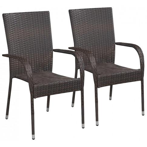 zestaw brązowych krzeseł ogrodowych nelly