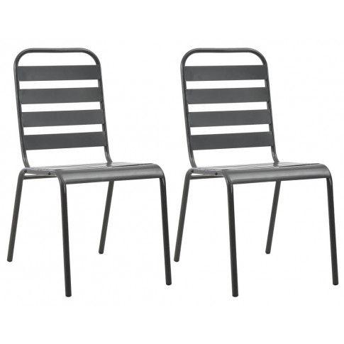 Zdjęcie produktu Zestaw metalowych krzeseł ogrodowych Mantar - szary.