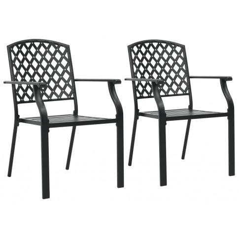 Zestaw metalowych krzeseł ogrodowych Talas