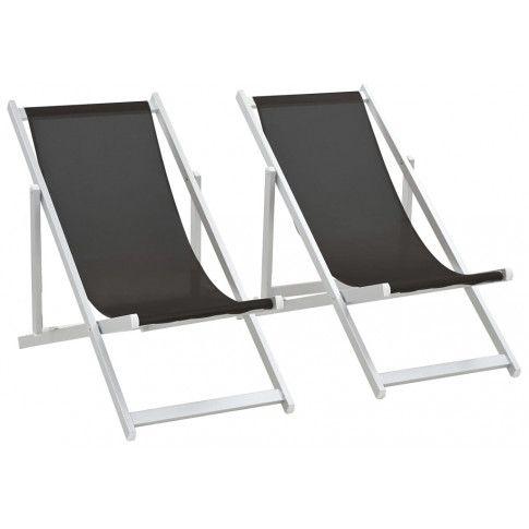 Zdjęcie produktu Składane leżaki plażowe Strand - czarne.