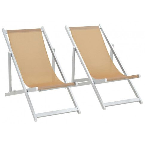 Zdjęcie produktu Komplet krzeseł plażowych Strand - kremowe.
