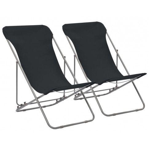 Zdjęcie produktu Składane krzesła plażowe Dino - czarne.