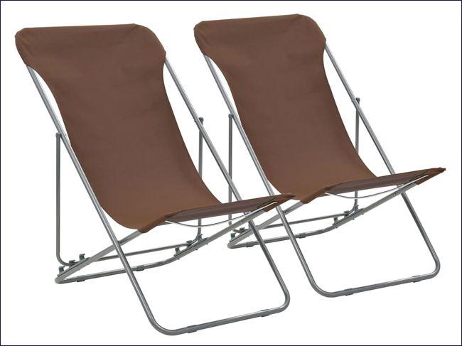 Krzesła ogrodowe składane brązowe Dino