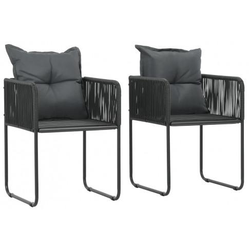 Zestaw polirattanowych krzeseł ogrodowych Morris