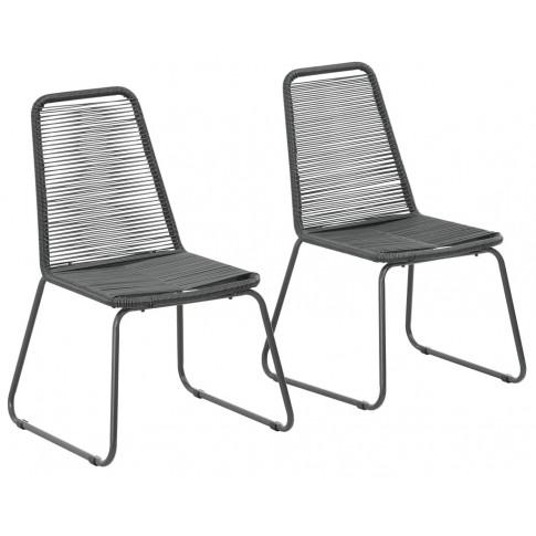 Zestaw polirattanowych krzeseł ogrodowych Zaya