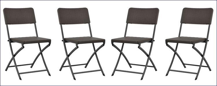 Wodoodporne składane krzesła tarasowe Otavio