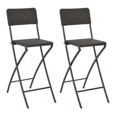 Zestaw składanych krzeseł ogrodowych Nathan