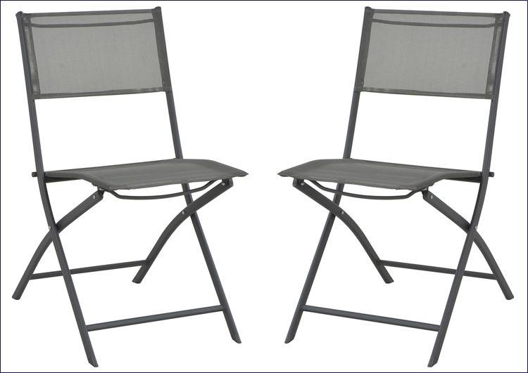 Krzesła ogrodowe składane stalowe Nilla