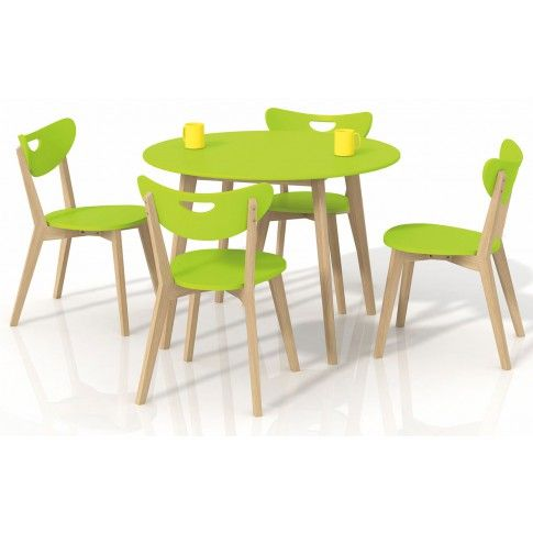 Zdjęcie produktu Okrągły stół Inelo S6 - limonkowy.