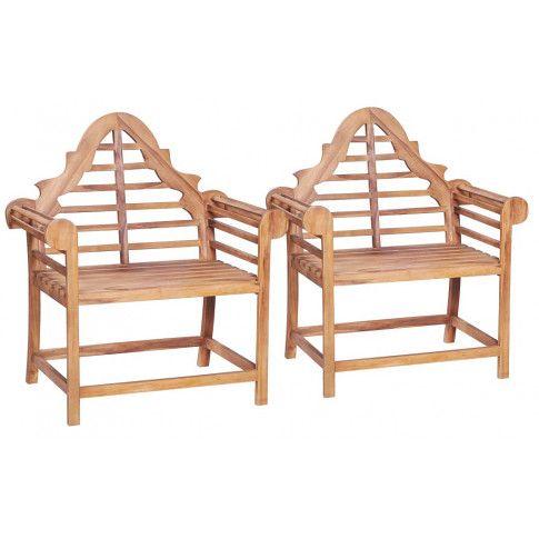 Zdjęcie produktu Zestaw drewnianych krzeseł ogrodowych Niclos - brązowy.