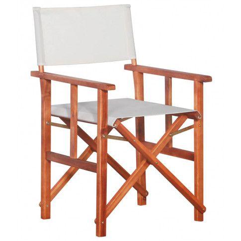 Zdjęcie produktu Krzesło reżyserskie tarasowe Martin - białe.