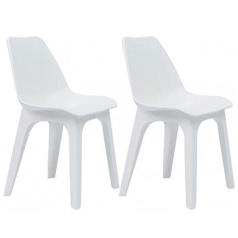 Zdjęcie produktu Krzesła ogrodowe Abila 2 szt - białe.