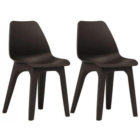 Zdjęcie produktu Wodoodporne krzesła tarasowe Abila 2szt - brązowe.