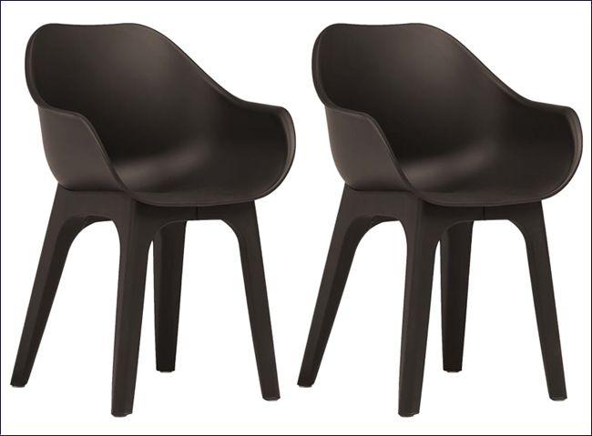 Zestaw wodoodpornych krzeseł ogrodowych Abila 2X
