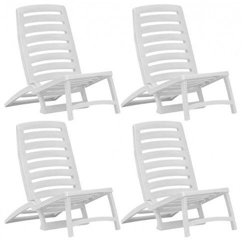 Zdjęcie produktu Składany zestaw plażowy dla dzieci Lido - biały.