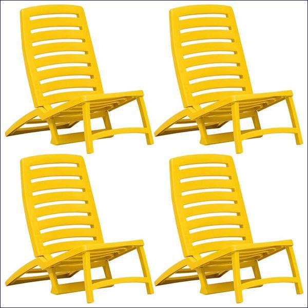 Zestaw krzeseł plażowych Lido - żółty