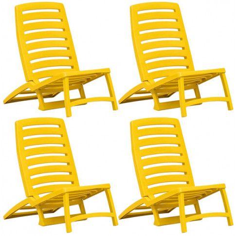 Zdjęcie produktu Komplet dziecięcych leżaków plażowych Lido - żółte.