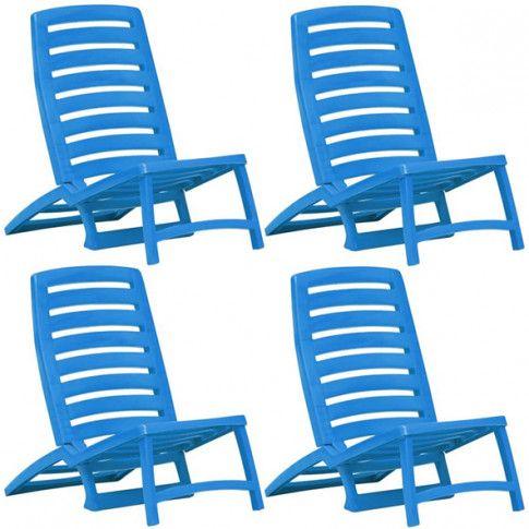 Zdjęcie produktu Komplet dziecięcych krzeseł plażowych Lido - niebieski.